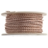Twisted Artistic Wire 3Yd 20ga Silver Plated Rose Gold Color